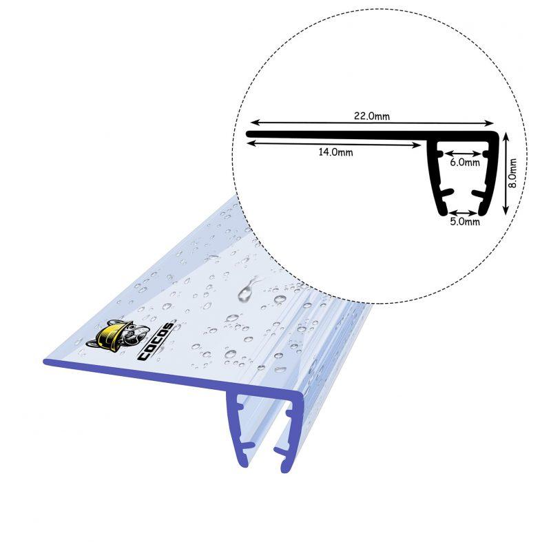 Duschdichtung D02 5mm - 8mm